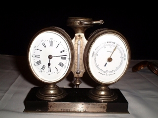 Barometer, thermometer