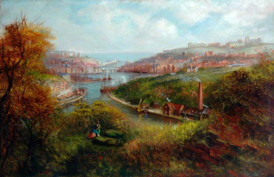 unknown artist; Whitby from Larpool
